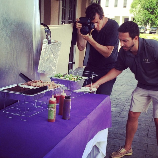 Starting the morning off with a little food photography for VooDoo BBQ @jason_cohen @staysofro