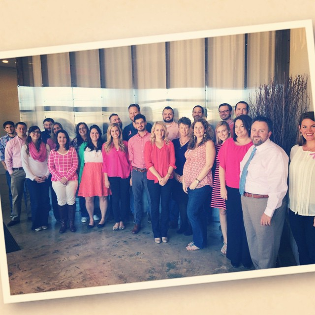 In honor of Breast Cancer Awareness month, the People Who Think are thinkin' in pink to show our support for all the breast cancer fighters and survivors, especially those in our INN family. ‪#‎thinkpink‬ ‪#‎pinktober‬